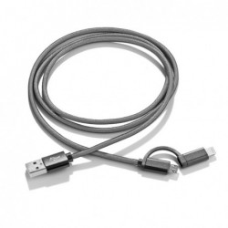 2-in-1 MESH USB cable