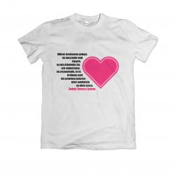 Koszulka z nadrukiem religijnym cytat i serduszko wzór - 1