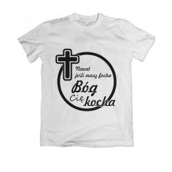 Koszulka z nadrukiem religijnym Bóg Cię kocha wzór - 4