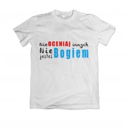 Koszulka z nadrukiem religijnym nie oceniaj innych wzór - 9