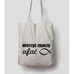 Bag with religious print...