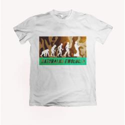 Koszulka dla wędkarzy: Naturalna ewolucja - wzór 2