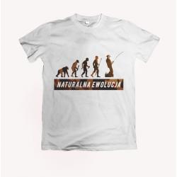 Koszulka dla wędkarza: Naturalna ewolucja - wzór 7