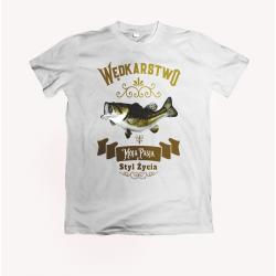 Koszulka dla wędkarza: Wędkarstwo to moja pasja - wzór 9