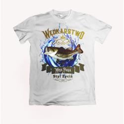 Koszulka dla wędkarza: Wędkarstwo moja pasja - wzór 10