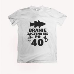 Koszulka dla wędkarza: Branie zaczyna się po 40 - wzór 12