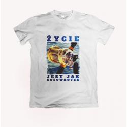 Koszulka dla wędkarza: Życie jest jak kołowrotek - wzór 13