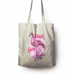 Torba z nadrukiem dla niej Pink girl wzór - 9