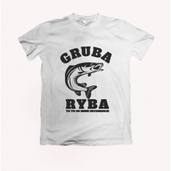 Koszulka dla wędkarza: Gruba ryba - wzór 16