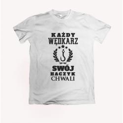 Koszulka dla wędkarza: Każdy wędkarz swój haczyk chwali - wzór 17