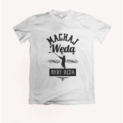 Koszulka dla wędkarza: Machaj wędą, ryby będą - wzór 19