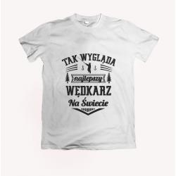 Koszulka dla wędkarza: Tak wygląda najlepszy wędkarz na świecie -  wzór 23