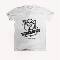Koszulka dla wędkarza: Wędkarstwo to moje życie - wzór 24