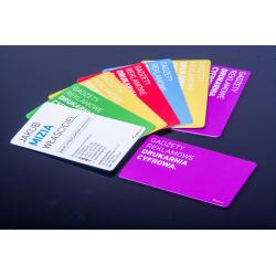 Pvc cards, plastic identifiers