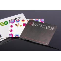 Karty plastikowe z nadrukiem UV, rabatowe, identyfikatory