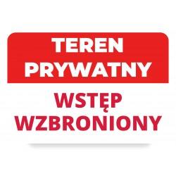 TEREN PRYWATNY WSTĘP...