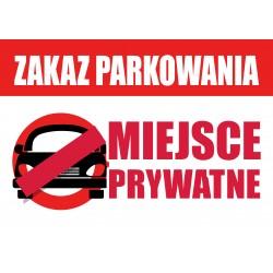 Tablica ZAKAZ PARKOWANIA A4...