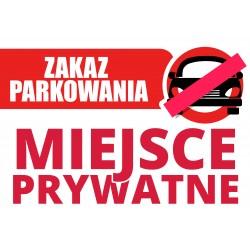 Parking Ban Board A4 PVC 3mm