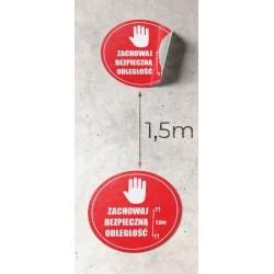 Sticker KEEP SAFE DISTANCE...