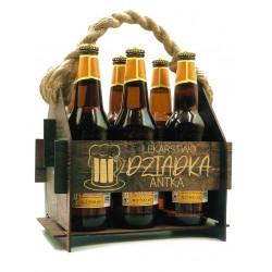 Drewniana skrzynka na piwo z grawerem na prezent