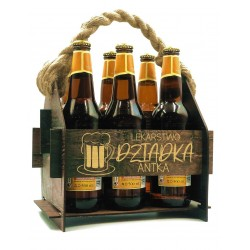Wooden beer box with gift...