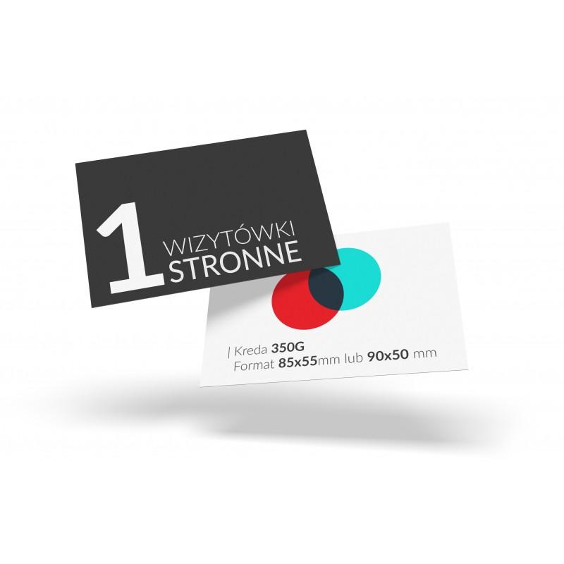 Wizytówki Jednostronne firmowe reklamowe z logo.