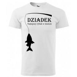 Koszulka na Dzień Dziadka: Dziadek najlepszy rybak w mieście - wzór 1