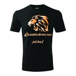 Koszulka na Dzień Dziadka: Dziadek obroni nas jak lew - wzór 10