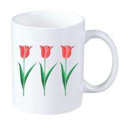 Kubek na Dzień Kobiet: Tulipany - wzór 1