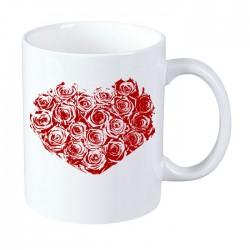 Kubek na Dzień Kobiet: Serce - wzór 2