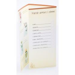 Karty menu Format A3 składany na 3 części.